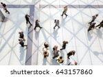 commuters walking. background... | Shutterstock . vector #643157860