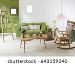 new natural wood furniture... | Shutterstock . vector #643159240