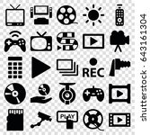 video icons set. set of 25... | Shutterstock .eps vector #643161304
