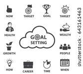 smart goal setting  business... | Shutterstock .eps vector #643161463