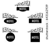 vector illustration motel... | Shutterstock .eps vector #643162939