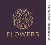 floral logo. flower icon.... | Shutterstock .eps vector #643170763