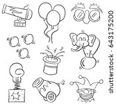 object element circus of doodles | Shutterstock .eps vector #643175200