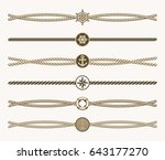 nautical vintage rope dividers. ... | Shutterstock . vector #643177270