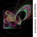abstract multicolored spiral... | Shutterstock . vector #643178596