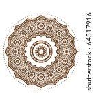 mandala design | Shutterstock .eps vector #64317916