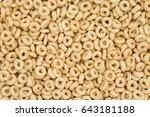 beige oat cereal for a healthy... | Shutterstock . vector #643181188