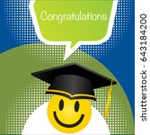 graduation ceremony icon and... | Shutterstock .eps vector #643184200
