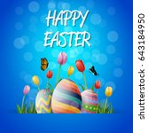 collection of easter egg | Shutterstock .eps vector #643184950