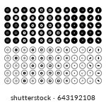 arrows in round shape icons | Shutterstock .eps vector #643192108