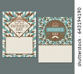 fathers day greeting cards.... | Shutterstock .eps vector #643194190
