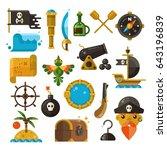 sea adventure  pirate  weapon ... | Shutterstock . vector #643196839