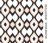 vector seamless pattern.... | Shutterstock .eps vector #643197250