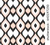 vector seamless pattern.... | Shutterstock .eps vector #643197250