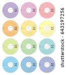 cd blanks   pastel colors set... | Shutterstock .eps vector #643197256