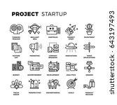 startup  launch business ... | Shutterstock . vector #643197493
