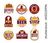 brewery logos and emblems... | Shutterstock .eps vector #643210996