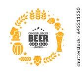 brewery logo emblem design....   Shutterstock .eps vector #643211230