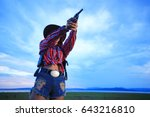 Cowgirl With Revolver