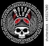 vintage skull t shirt graphic... | Shutterstock . vector #643217680