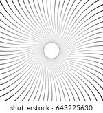 abstract pattern with radial... | Shutterstock .eps vector #643225630