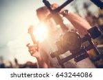 camera gimbal dslr video... | Shutterstock . vector #643244086