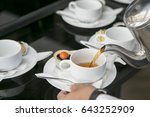 coffee break at conference... | Shutterstock . vector #643252909