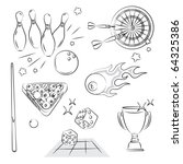 games and sport entertiment | Shutterstock .eps vector #64325386