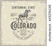 colorado centennial state ... | Shutterstock . vector #643256140
