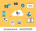 icon of cloud computing with...   Shutterstock .eps vector #643259209