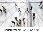 commuters walking. background... | Shutterstock . vector #643265770