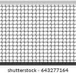 tennis net horizontal seamless... | Shutterstock .eps vector #643277164