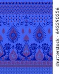 traditional indian motif | Shutterstock . vector #643290256