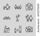 father icons set. set of 9... | Shutterstock .eps vector #643295650