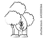 trees plants isolated icon | Shutterstock .eps vector #643300366