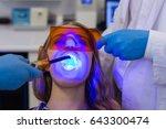 dentists examining female... | Shutterstock . vector #643300474