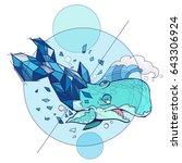 vector illustration of blue... | Shutterstock .eps vector #643306924