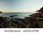 asian bungalow against a calm... | Shutterstock . vector #643311958