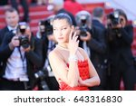 bella hadid attends the 'okja'... | Shutterstock . vector #643316830