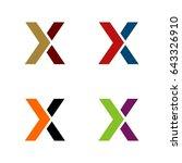 x letter logo template | Shutterstock .eps vector #643326910