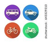 icons set transport    Shutterstock .eps vector #643329310