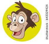 monkey icon cartoon character   Shutterstock .eps vector #643329424
