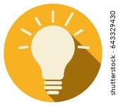 icon flat lamp | Shutterstock .eps vector #643329430