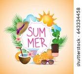 summer banner isolated on...   Shutterstock .eps vector #643334458