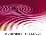 colorful ripple background | Shutterstock . vector #643337104