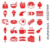 set of 25 tasty filled icons... | Shutterstock .eps vector #643337449