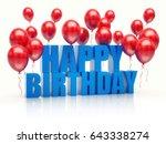 happy birthday balloons.   Shutterstock . vector #643338274