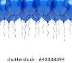 blue balloons.   Shutterstock . vector #643338394