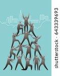 human pyramid | Shutterstock .eps vector #643339693