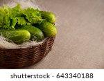 Cucumbers In A Wicker Basket....
